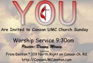Click On Photo for HOMEPAGE @ Canaan UMC